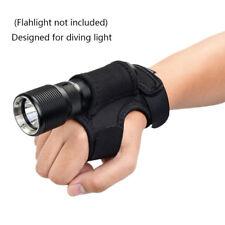 Black Flashlight Holder Hands-Free Torch Gloves on Wrist/Portable Arm Dual Use L