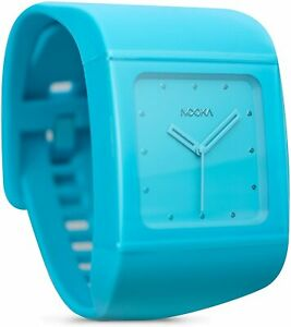 Nooka Unisex Quartz Watch with Blue Dial Analogue Display and Blue Plastic or Pu