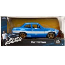 Jada Ford Escort MK1 Fast & Furious Brian's Diecast Model Car Blue 1:24 99572
