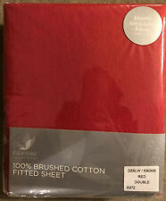 PIERDAE 100% BRUSHED COTTON FITTED SHEET DOUBLE RED BED EXTRA DEEP FITTED £24