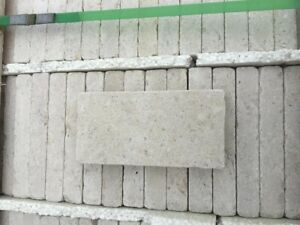 50 COBBLES (1m2) Dijon Beige Tumbled Limestone Patio Paving 200x100x30 £49