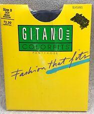 Gitano Colorfits Textures Pantyhose Dot Ebony Shadow Size B 100% Nylon