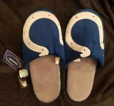 Indianapolis Colts Big Logo Slippers TWO TONED House shoes! *NEW-WITH TAGS*