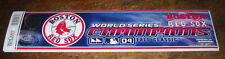 10 LOT 2004 BOSTON RED SOX WORLD SERIES CHAMPIONS BUMPER STICKERS MLB