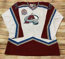 COLORADO AVALANCHE Jersey PATRICK ROY Vtg 2001 Stanley Cup CCM Stitched NHL 56