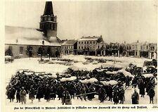 Winterschlacht in Masuren.Feldbäckerei in Pillkallen. Bilddokument von 1915