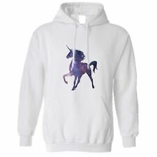 Mythical Space Hoodie Galaxy Unicorn Silhouette Sparkle Stars Cool Nerd