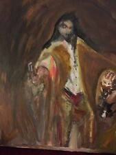 Mephistopheles: German Demon from Folklore. Original signed Oil Painting