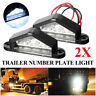 4Pcs ABS 4 LED TAIL REAR LICENSE NUMBER PLATE LIGHT LAMP FOR TRUCK LORRY TRAILER