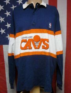 CAVALIERS CLEVELAND longsleeves XL polo shirt basketball Cavs 1980s Nutmeg