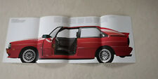Audi quattro urquattro Typ 85 Prospekt Broschüre Pressemappe Italien Italy 1985