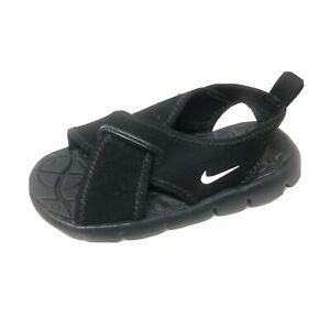 Nike Toddler Black Slip On Sandals Lightweight Open Toe 7C