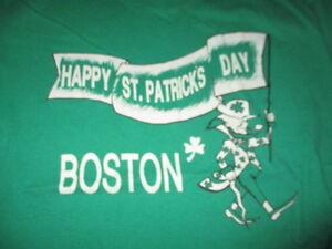 Vintage ST. PATRICK'S DAY Leprechaun BOSTON (XL) T-Shirt