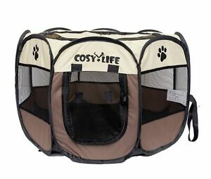 Cosy Life® Playpen Tent for Pets Dogs Puppies, 65x65x44 cm (Small)