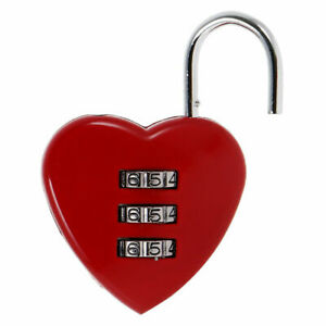 Cadenas à Code secret Coeur Valide bagage casier boîte
