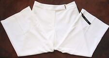 White House Black Market White Soft Drape Crop Pants Sz 14 NWT