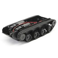 Rc Tank Smart Robot Tank Car Chassis Kit Rubber Track Crawler For Arduino  E6M2