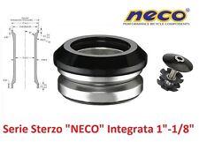 """0080 Serie Sterzo NECO Integrata 1""""-1/8"""" Nera per bici 27,5-29 MTB Mountain Bike"""