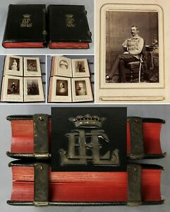 19thC TWO fine European ARISTOCRAT cabinet photograph albums PRUSSIA / Germany?