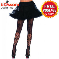 AC542 Leg Avenue Itsy Bitsy Spider Web Halloween Witch Stockings Tights Costume