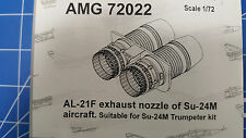 AL-21F Exhaust Nozzle of Su-24M (2) (Kit Trumpeter) AMIGO RESIN 1/72