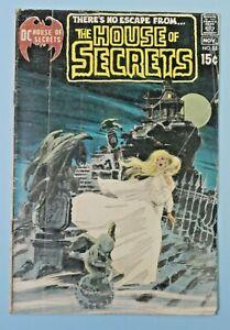 1970 DC Comics The House Of Secrets #88  Neal Adams Cover Hot Key Rare 2.0