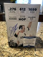 Jim Thome Autographed White Sox HOF Bobblehead Box Beckett COA