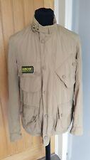 BARBOUR STEEL INTERNATIONAL A7 Jacket, Small, Beige, Biker Style, lightweight