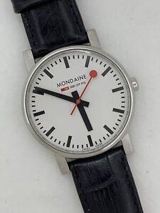 Mondaine SBB CFF FFS Swiss Railways Wrist Watch Working White Dial Men's