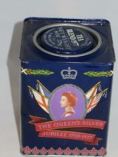 Collectable Tea Tin Silver Jubilee Queen Elizabeth II 1977 JACKSONS PICCADILLY