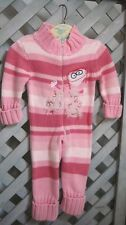 Pink Stripe One-Piece Cotton SWEATER KNIT ROMPER Suit JAFFE OINK BABY Girl 9 mo