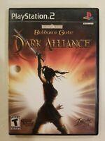 Baldur's Gate Dark Alliance (Sony Playstation 2 PS2) BLACK LABEL COMPLETE