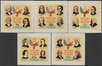 Tonga 1976 SG568-572 American Revolution set MNH