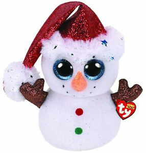 TY Beanie Boos FLURRY Snowman Large Plush Soft Toy approx 16.5 inch (42cm)36298