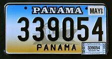 "PANAMA '"" CANAL SHIP + WINDOW STICKER - Discontinued ""1999 Graphic License Plate"
