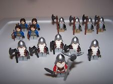 LEGO® minifigure custom lotr hobbit dwarf dwarves castle weapon helmet beard lot