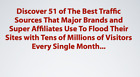 51 Top Traffic Resources Video Course- Learn How To Get Unlimited Traffic