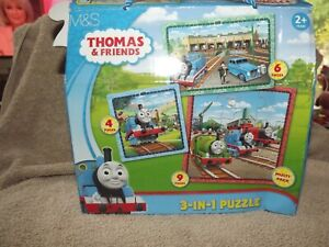 Peppa Pig and Thomas and friends 3 In 1 Jigsaw 2+ Years M&S Kids