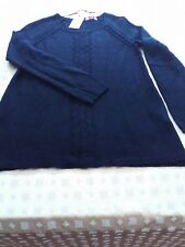 NWT Candie's Faux Back-Button Closure/Partial Pointelle Front Sweater