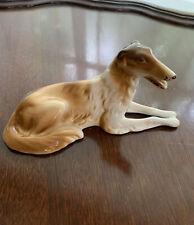 Russian Wolfhound Royal Dux Bohemia Hand Paint Chech Republic Porcelain Figurine