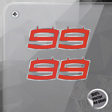 STICKER JORGE LORENZO 99 DEMON MOTO GP DECAL STICKER AUFKLEBER AUTOCOLLANT