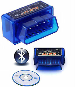 Mini Bluetooth Car Scanner OBD2 ELM327 V2.1 Android Torque Auto Scan Tool OBD-II