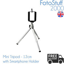Universal 12CM Mini Tripod with Smartphone Holder Small Tabletop Tripod Stand
