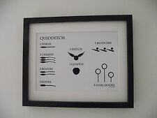 Harry Potter Inspired Quidditch Rules Picture - A4 Art Print / Poster