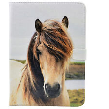 Dirty White Horse Leather Flip Stand Case Smart Cover For ipad Mini 1/2/3