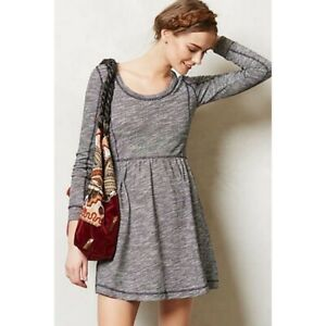 Anthropologie Saturday Sunday Space Dye Desna Sweater Dress Gray Small