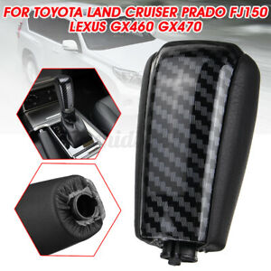 Carbon Fiber Gear Shift Knob Shifter For Lexus For Toyota Land Cruiser Prado AU