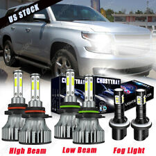 4side 9005 9006 880 LED Headlight + Fog Light Bulbs 6x For Chevy Tahoe 2001-2006