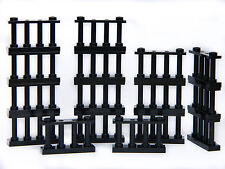 LEGO barred BLACK fence 2x4 (pack of 16) police castle palace bars window