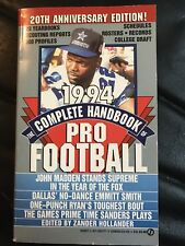 The Complete Handbook Of Pro Football 1994 Edition, Football Books Emmitt Smith